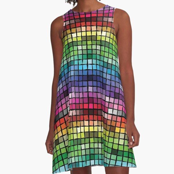 Mosaic (Web Colors) A-Line Dress