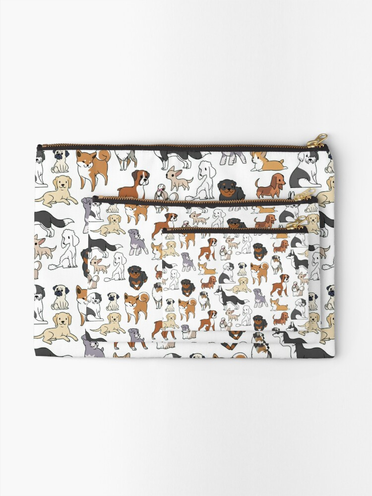 Alternate view of Dogs Zipper Pouch
