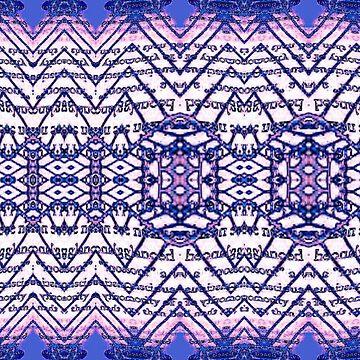 erasure experimental purple blue pattern by heby73