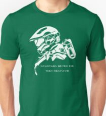 Spartans never die. Unisex T-Shirt