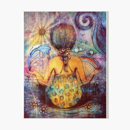 Rainbow Meditation Art Board Print