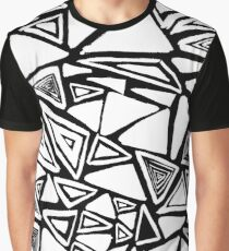 Triangle Brush Patterns (Inverted) Graphic T-Shirt