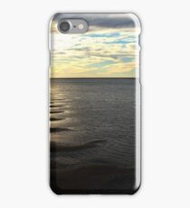 Sand bars and sunset captured from Urangan Pier iPhone Case/Skin