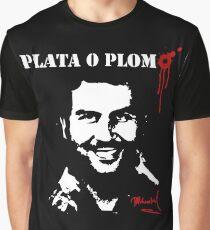 "Pablo Escobar ""Plata o Plomo"" Graphic T-Shirt"