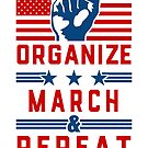 Political Activist Gear Organize, March, and Repeat  by electrovista