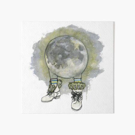 Owl in Moon-Lined Boots Art Board Print