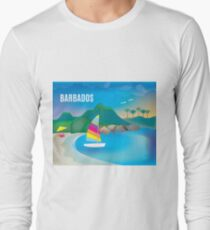 Barbados - Skyline Illustration by Loose Petals T-Shirt