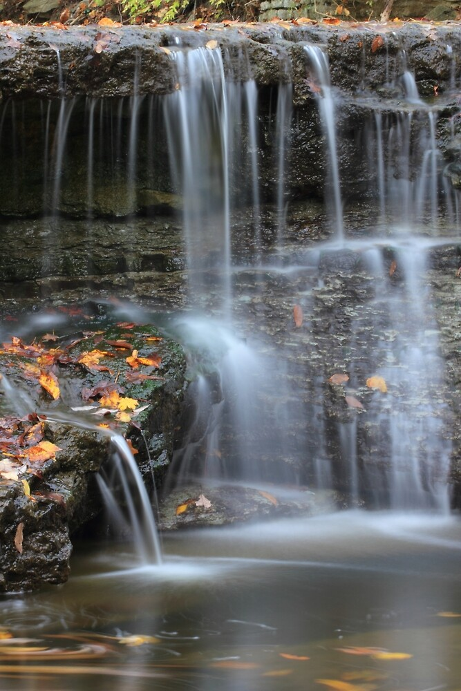 Waterfall at Sharon Woods, Hamilton County, ohio. by Christa Binder