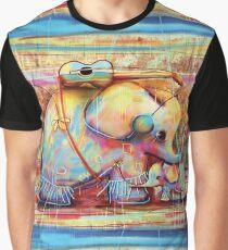 musical rainbow elephants Graphic T-Shirt