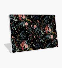 Mitternacht Blumen Laptop Skin