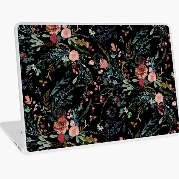 Midnight Floral Laptop Skin