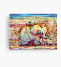 musical rainbow elephants Canvas Print