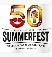 SUMMERFEST 50TH MILWAUKEE 2017 WH DERITA Poster