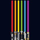 Lightsaber Rainbow by halfabubble