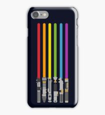 Lightsaber Rainbow iPhone Case/Skin