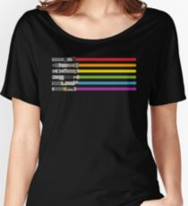 Lightsaber Rainbow Women's Relaxed Fit T-Shirt