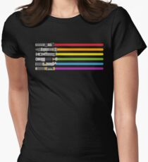 Lightsaber Rainbow Fitted T-Shirt