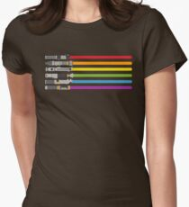 Lightsaber Rainbow Womens Fitted T-Shirt