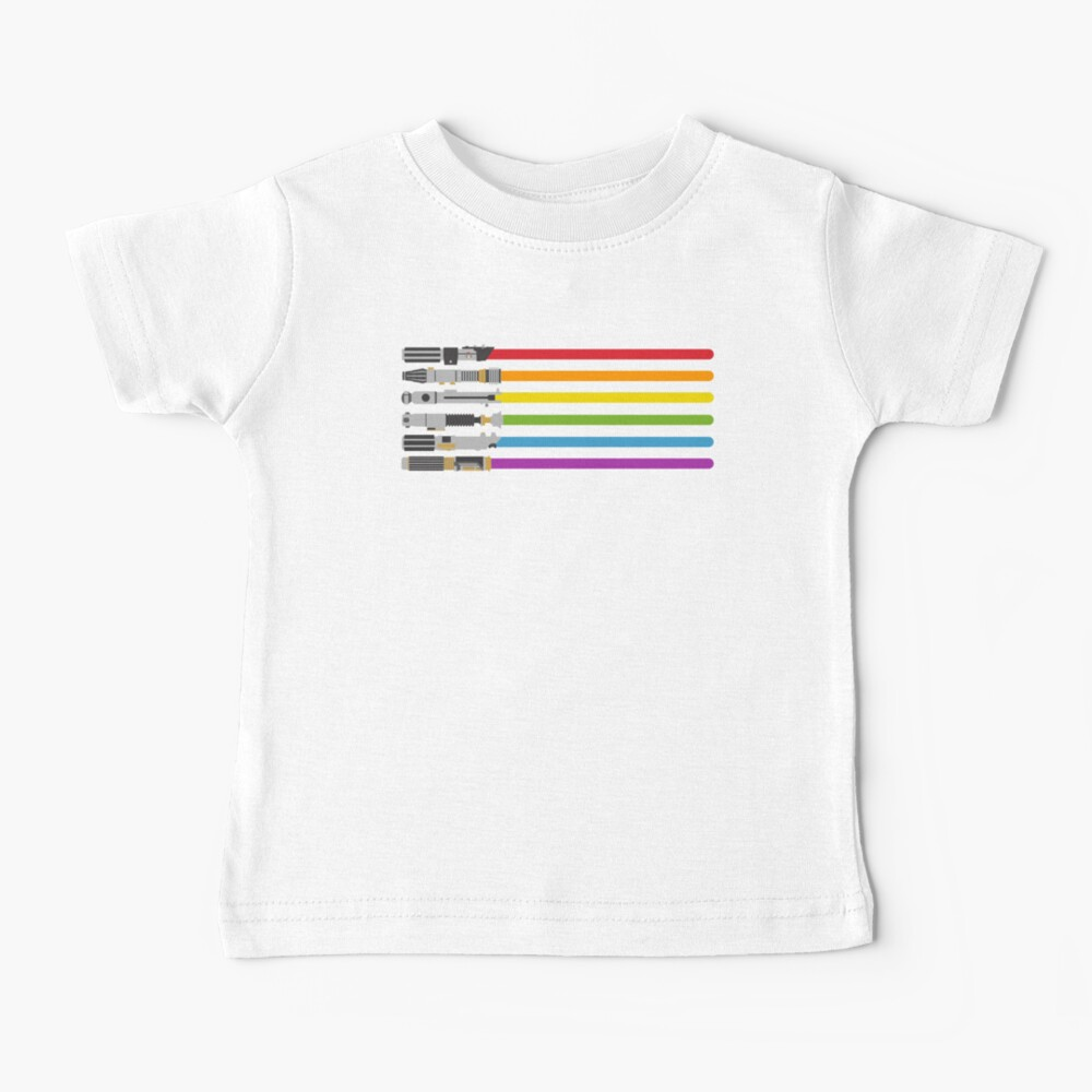 Lightsaber Rainbow Baby T-Shirt