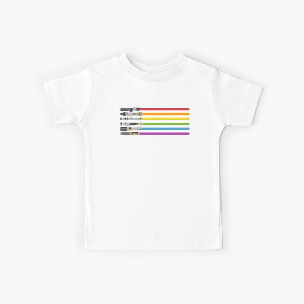 Lightsaber Rainbow Kids T-Shirt