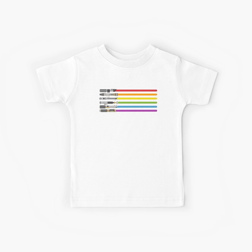 Lightsaber Rainbow Kids T-Shirt
