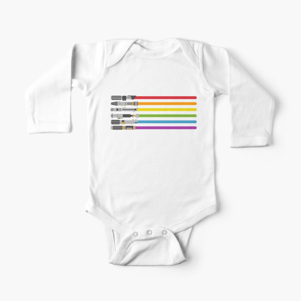 Lightsaber Rainbow Baby One-Piece