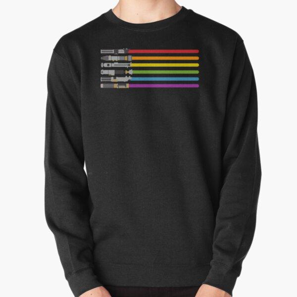 Lightsaber Rainbow Pullover Sweatshirt