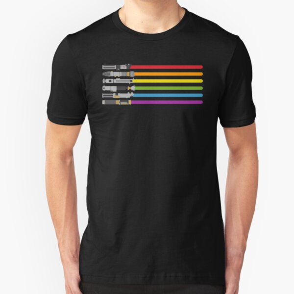 Lightsaber Rainbow Slim Fit T-Shirt