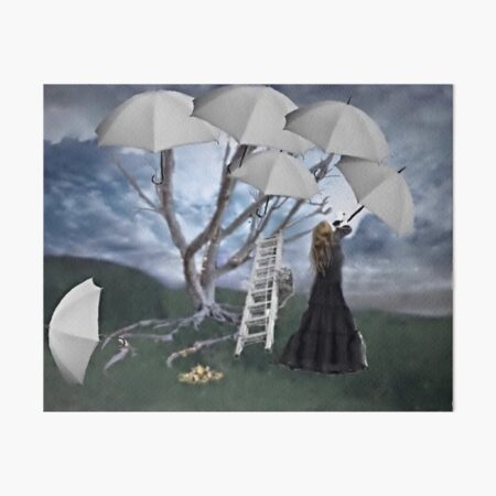 An Umbrella for the Rain Art Board Print