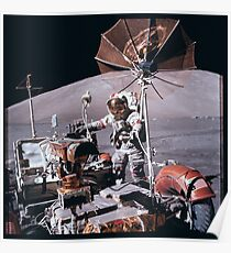 Apollo Archive 0136 Moon Lunar Rover on Surface Poster