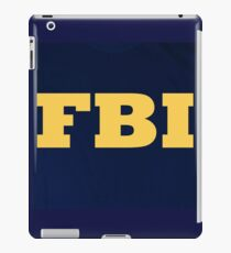FBI logo navy and yellow iPad Case/Skin