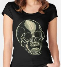 BLK SKULL - Art By Kev G Women's Fitted Scoop T-Shirt
