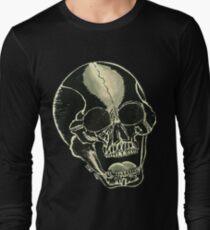 BLK SKULL - Art By Kev G Long Sleeve T-Shirt