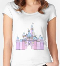Pastel Princess Castle Fitted Scoop T-Shirt
