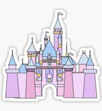 Pastell Prinzessin Schloss Sticker
