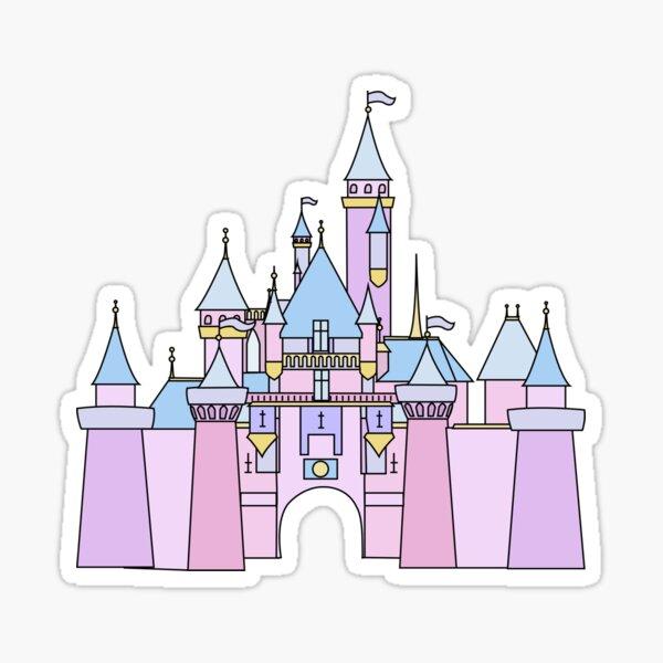 Pastel Princess Castle Sticker