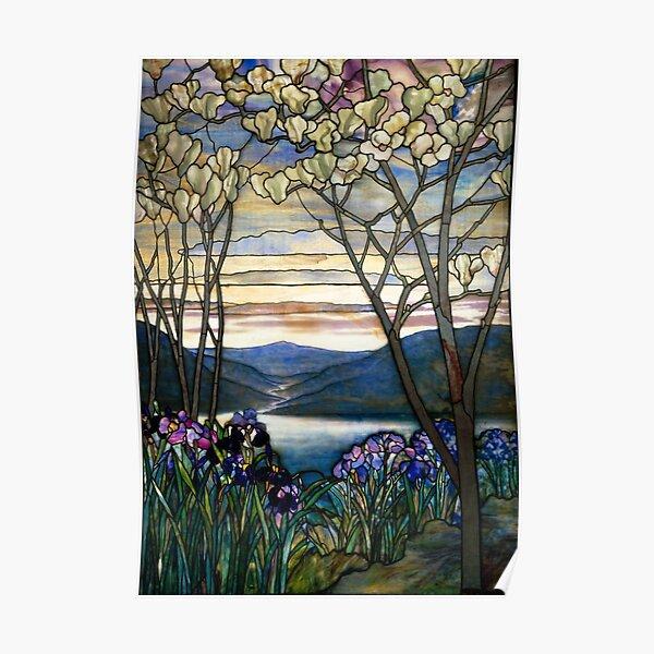 Magnolias and Irises   Poster