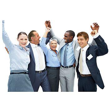 Coworkers Celebrating by sleepy-