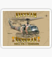 UH-1 Iroquois Vietnam Veteran Sticker