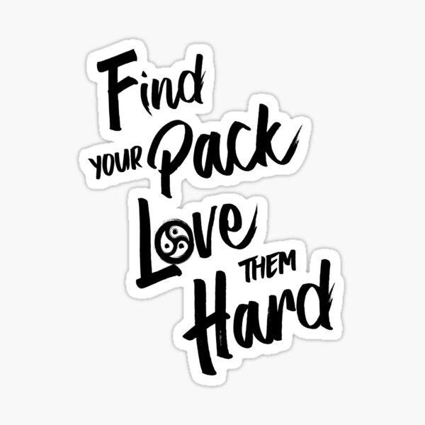 Find Your Pack - Triskelion WHITE Sticker
