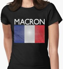 Macron French Presidential Election Victory Womens Fitted T-Shirt