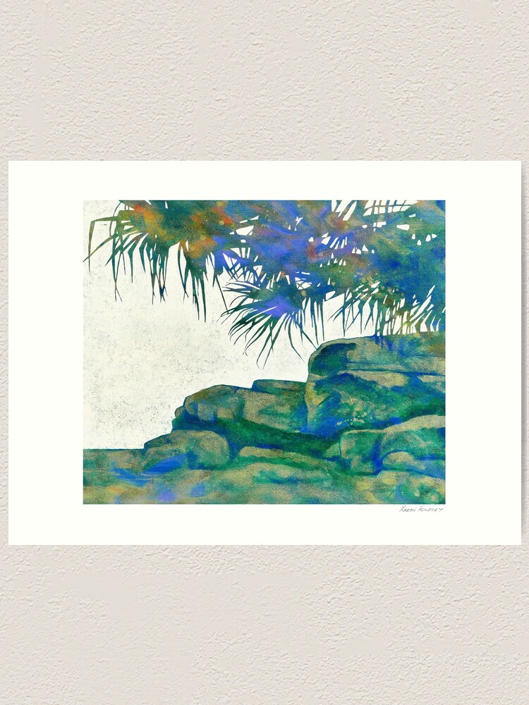 Alternate view of Summertime Blues and Greens Art Print