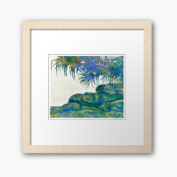 Summertime Blues and Greens Framed Art Print