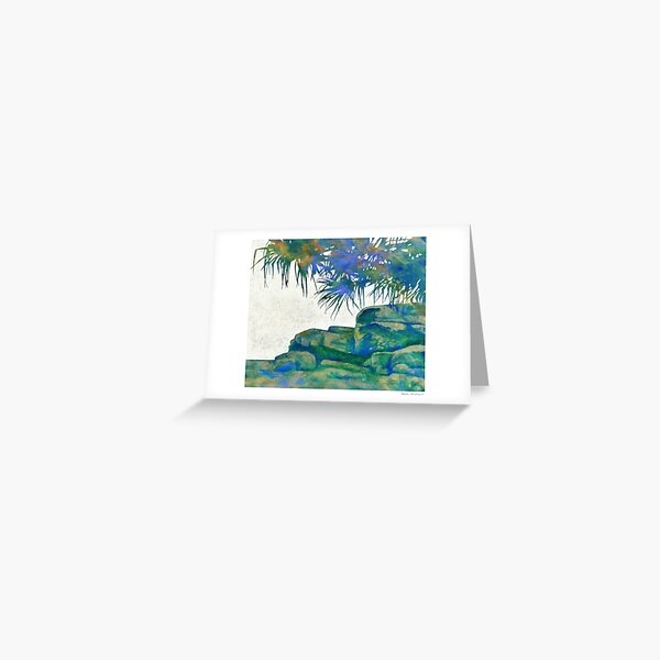 Summertime Blues and Greens Greeting Card