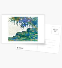 Summertime Blues and Greens Postcards