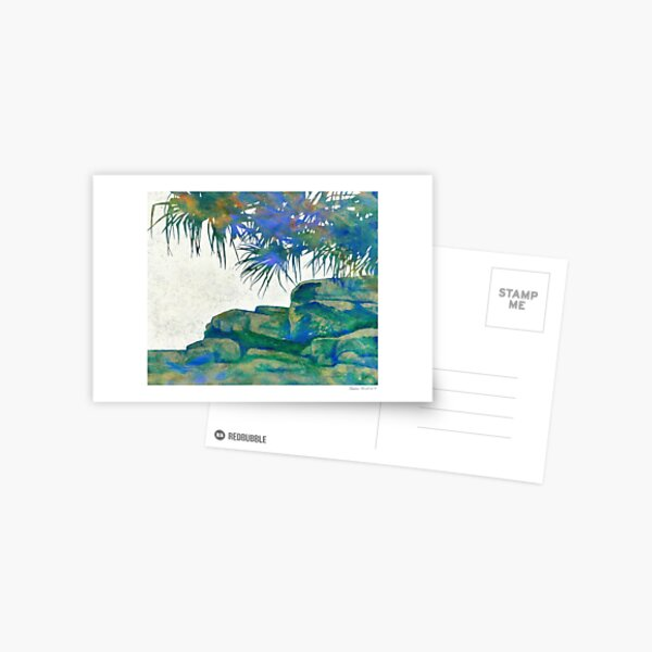 Summertime Blues and Greens Postcard