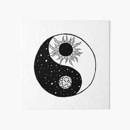 Sun and Moon Yin and Yang  Art Board Print