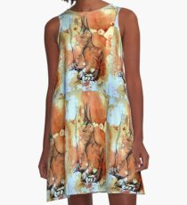 Barefoot in the rain A-Line Dress