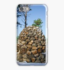Stone statute in the winter iPhone Case/Skin