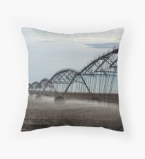 Watering the field Throw Pillow